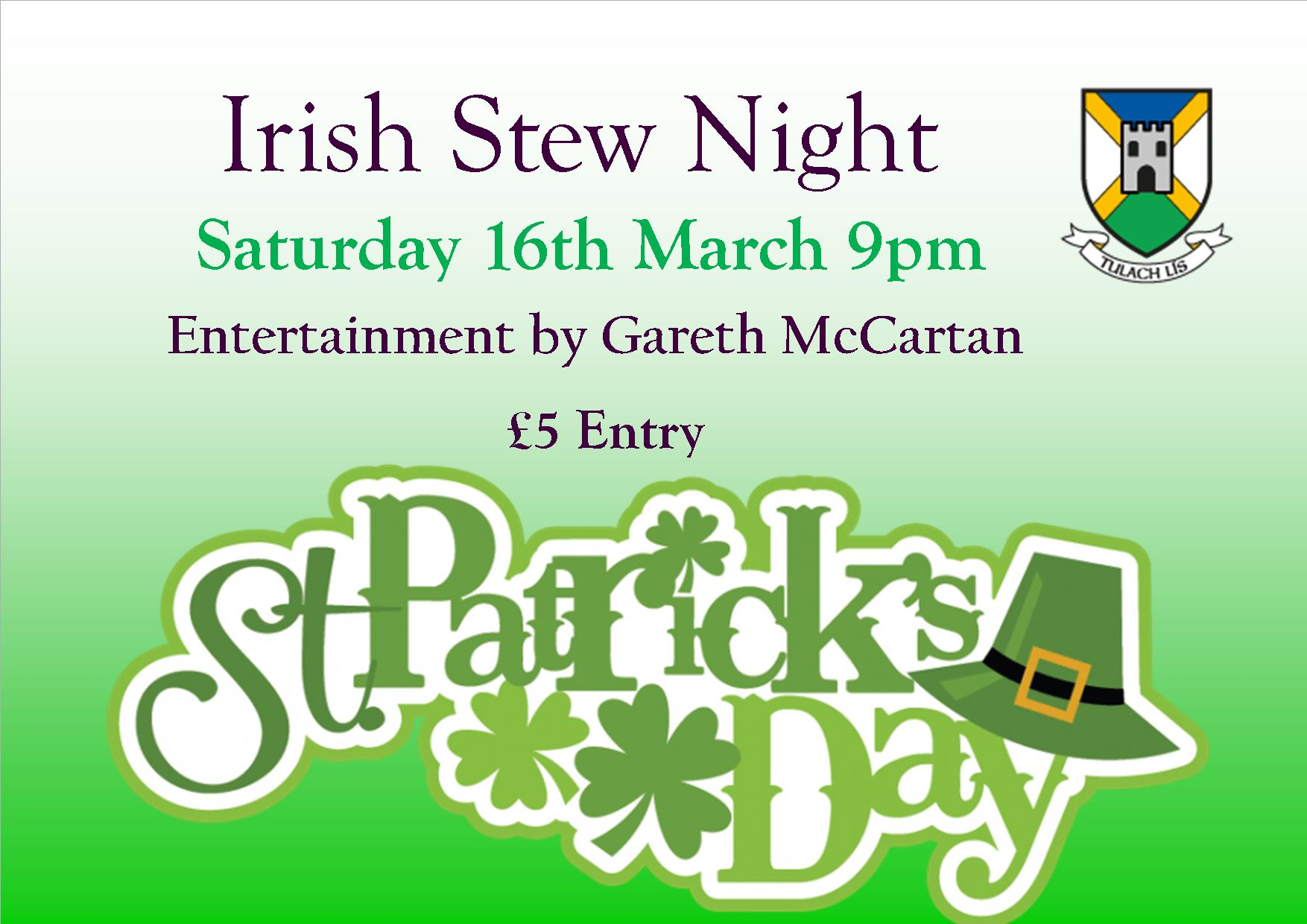 St. Patrick Celebration Night & Stew Night